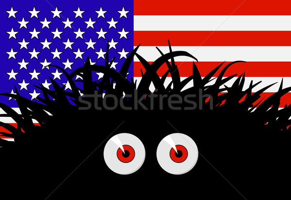 Unknown threat to the United States of America - comic vector il Stock photo © pzaxe