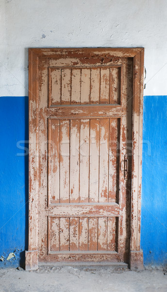 The closed old decayed door Stock photo © pzaxe