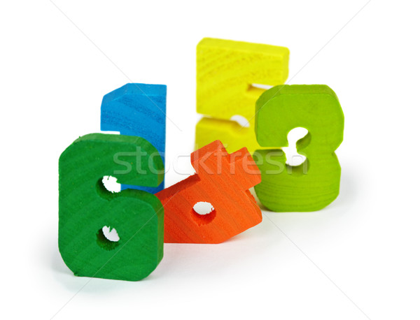 Antique Toy colored wooden figures Stock photo © pzaxe