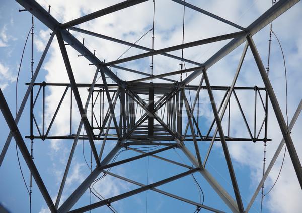 Elettriche sostegno fondo view cielo costruzione Foto d'archivio © pzaxe