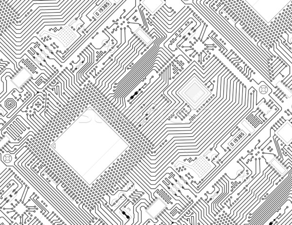 Printed monochrome industrial circuit board background Stock photo © pzaxe