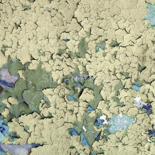 Surface colored peeling old paint Stock photo © pzaxe