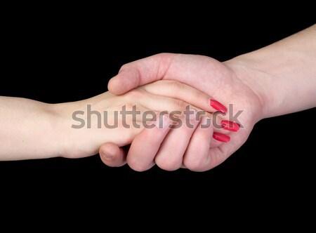 Strony czarny kobieta człowiek czerwony naciśnij Zdjęcia stock © pzaxe