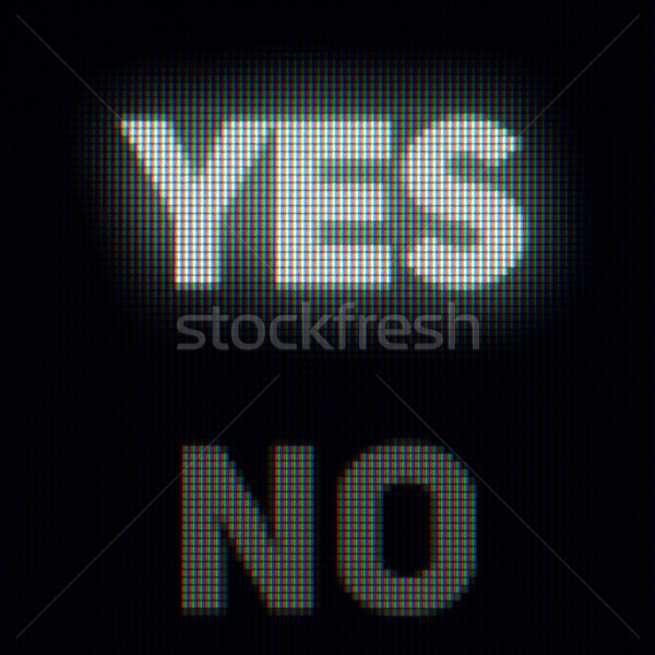 Yes and no on computer screen. Confirm and rejection concept Stock photo © pzaxe