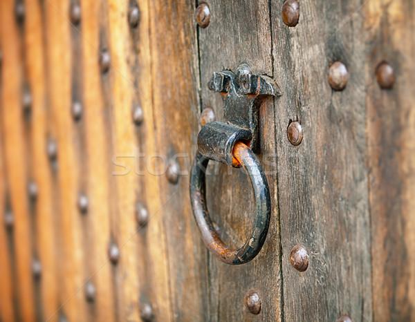 Old metal round door handle Stock photo © pzaxe