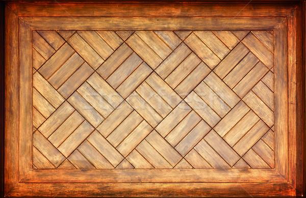 Photo stock: Cadre · en · bois · espace · de · copie · vieux · milieu · construction · mur