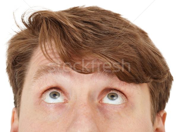 Stockfoto: Ogen · man · kijken · witte · gezicht