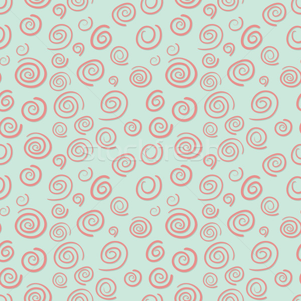 Curls seamless vector pattern in old-fashioned style Stock photo © pzaxe