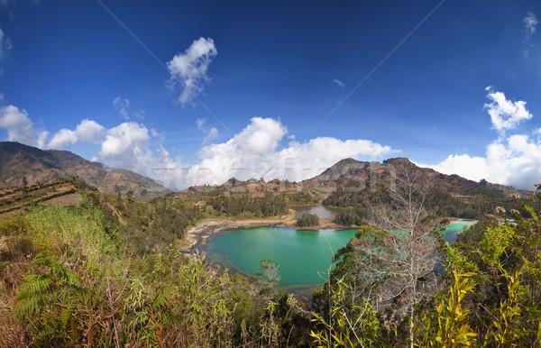 Fennsík Indonézia tó nagy panoráma tájkép Stock fotó © pzaxe