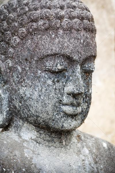 Oude sculptuur gezicht man reizen Stockfoto © pzaxe