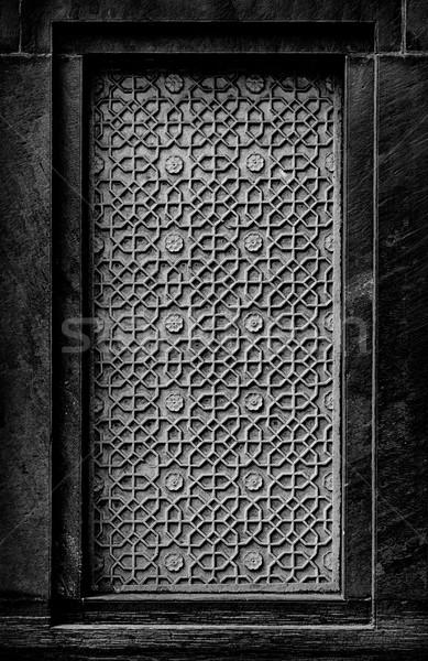 偽 ウィンドウ 伝統的な 石 飾り インド ストックフォト © pzaxe