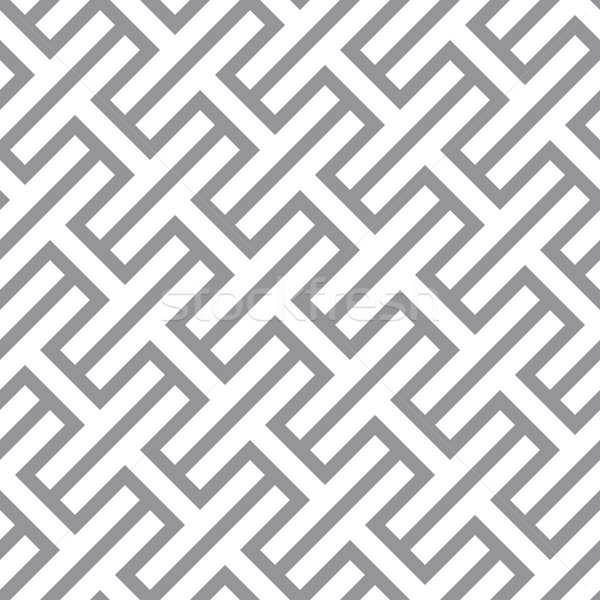 Foto stock: Simples · geométrico · vetor · sem · costura · monocromático · padrão