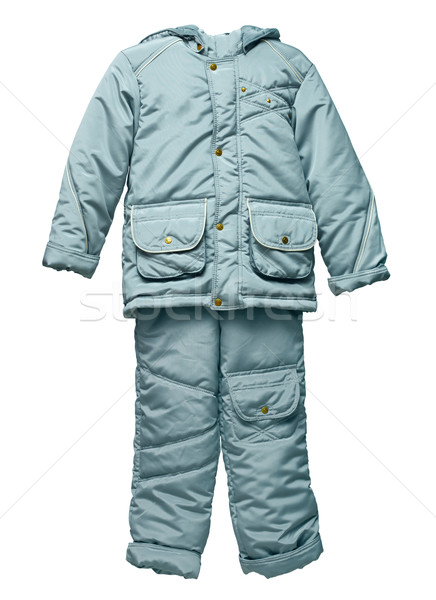 Childs gray winter jacket and pants with hood Stock photo © pzaxe