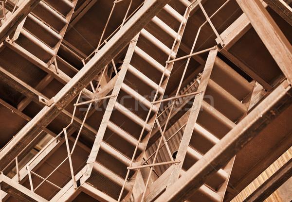Interlocking rusty industrial constructions Stock photo © pzaxe