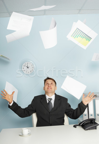 Bureaucrat -  businessman juggling documents Stock photo © pzaxe