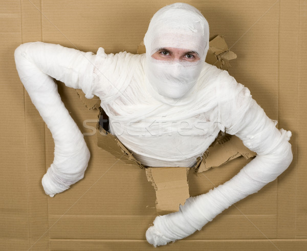 Man in costume mummy Stock photo © pzaxe