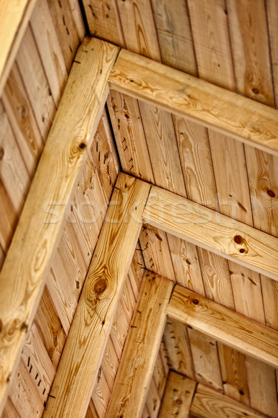 Construction a wooden roof - inside view Stock photo © pzaxe