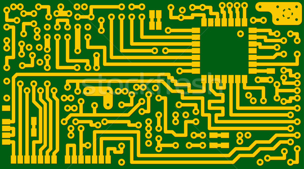 Electronic green circuit background - eps8 Stock photo © pzaxe