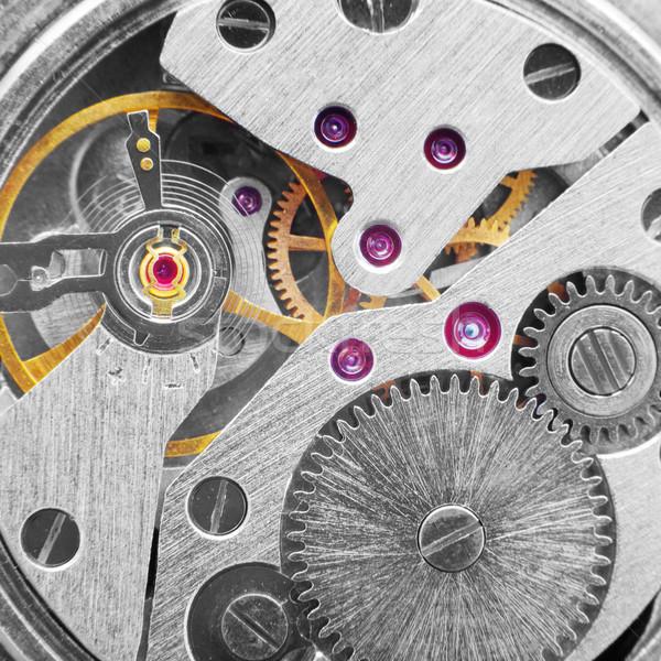 Metal clockwork (macro-photo) Stock photo © pzaxe