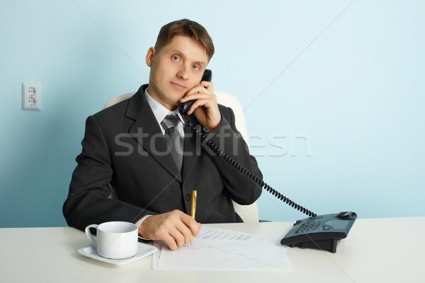 公式 オフィス 話し 電話 作業 ペン ストックフォト © pzaxe