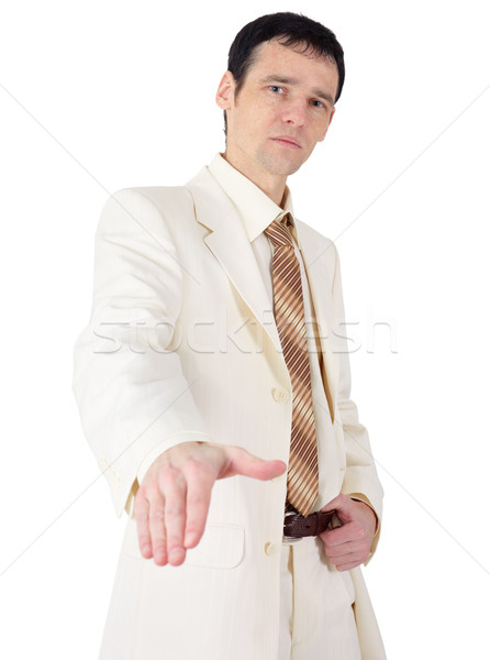 Not a friendly young man in a business suit Stock photo © pzaxe
