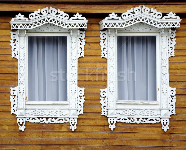 Two old decorated windows Stock photo © pzaxe
