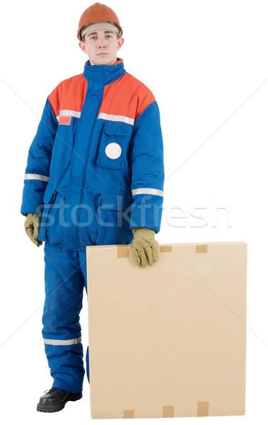 рабочий окна шлема белый человека работник Сток-фото © pzaxe