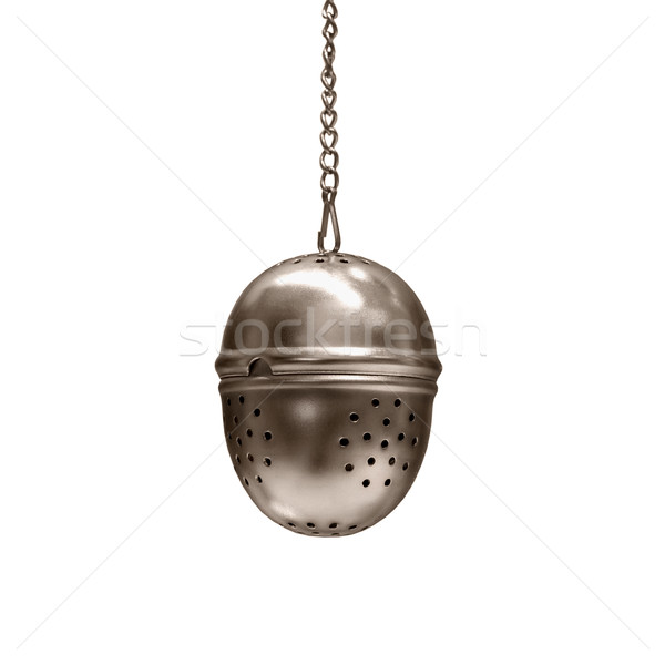 Tea infuser on white background Stock photo © pzaxe