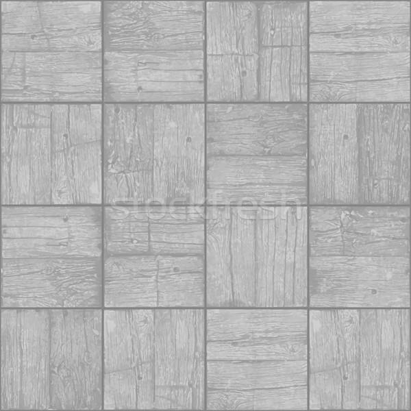 Old parquet floor background - vector monochrome grunge element  Stock photo © pzaxe