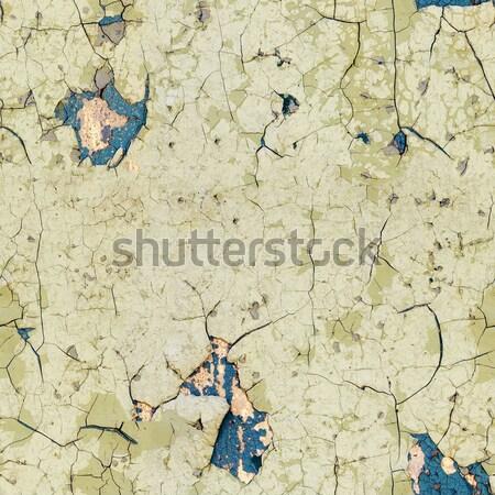 öreg fal fedett repedt festék textúra Stock fotó © pzaxe