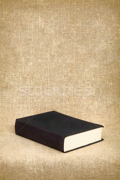 Black book on the fabric background Stock photo © pzaxe