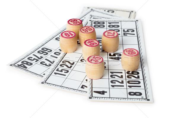 бинго карт изолированный белый дизайна фон Сток-фото © pzaxe