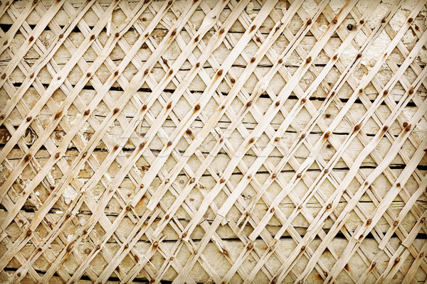 Wooden wall deprived of plaster - backdrop Stock photo © pzaxe