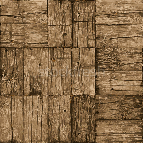 Old parquet floor background - vector realistic grunge element f Stock photo © pzaxe
