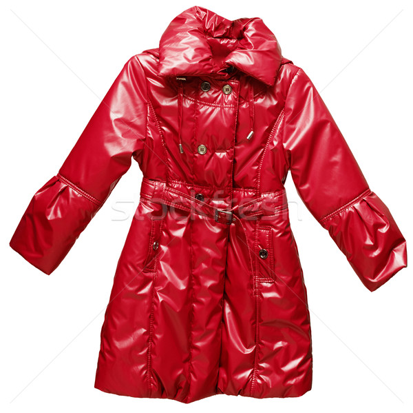Childs outdoor red warm jacket Stock photo © pzaxe