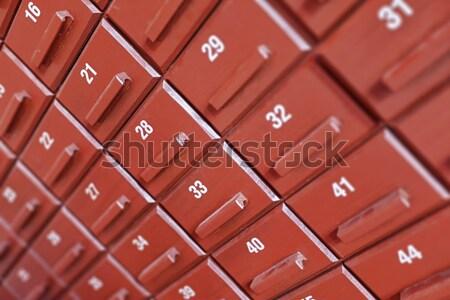 Individual cuadro armario azul resumen Foto stock © pzaxe