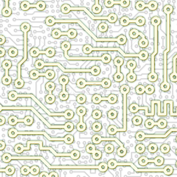 Résumé graphique circuit lumière modèle carré Photo stock © pzaxe