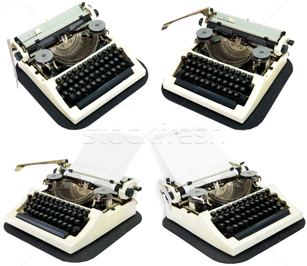Ancient typewriters on a white Stock photo © pzaxe