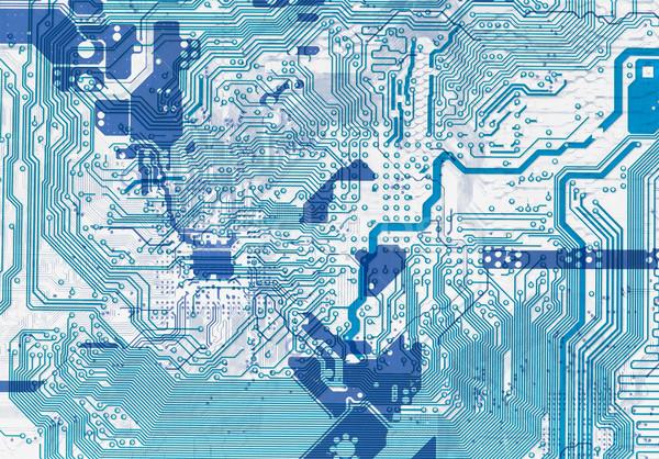 Kék absztrakt nyáklap elektronikus közelkép textúra Stock fotó © pzaxe