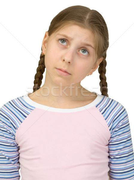Portrait of the sad girl Stock photo © pzaxe