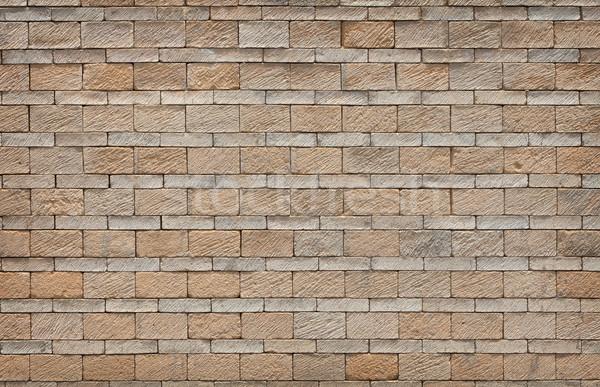 Wall of limestone bricks - background Stock photo © pzaxe