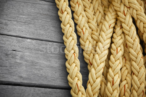 Vintage nautical knots background with copy-space. Marine sea ro Stock photo © pzaxe
