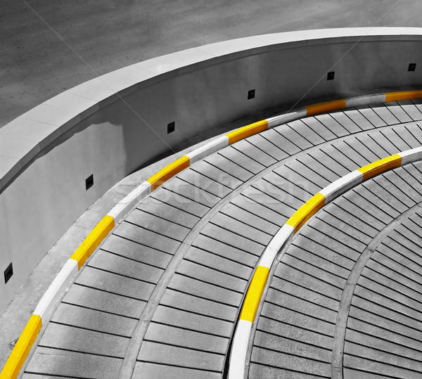 Architectural concrètes urbaine abstraction entrée métro Photo stock © pzaxe