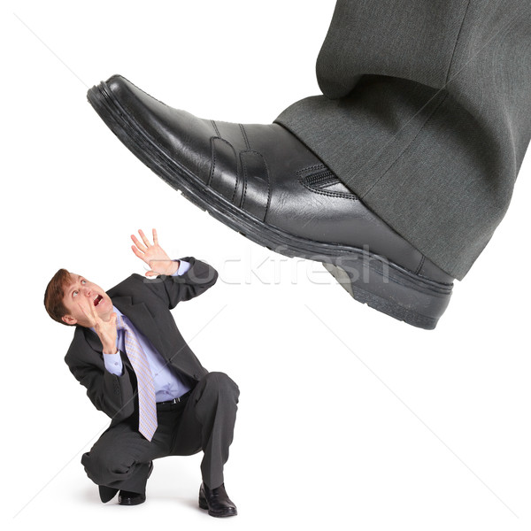 Big foot of crisis crushes small entrepreneur Stock photo © pzaxe