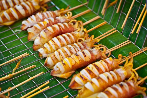 Alla griglia mercato venduto strada asian alimentare Foto d'archivio © pzaxe