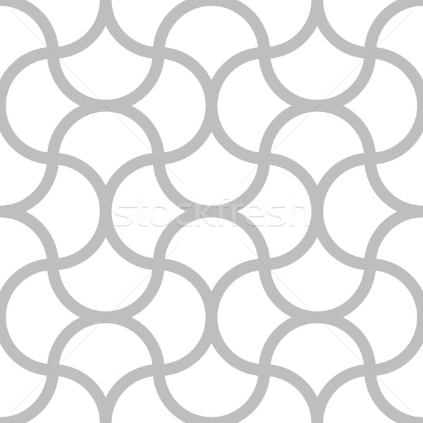 Vector seamless pattern - simple geometric lines on white square Stock photo © pzaxe