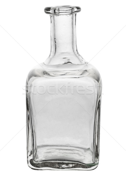 Beautiful glass bottle with curved edges Stock photo © pzaxe