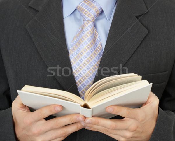 ビジネスマン 読む 図書 ビジネスマン ビジネス 手 ストックフォト © pzaxe