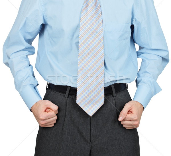 Hands of businessman clenched in fists Stock photo © pzaxe