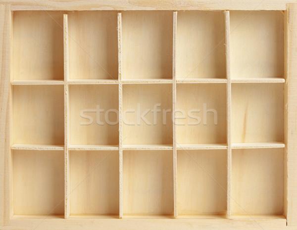 Wooden box on fifteen cells Stock photo © pzaxe